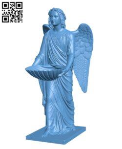 Baptismal Angel – Women H000385 file stl free download 3D Model for CNC and 3d printer