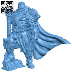 Barbarian Chieftain H000133 file stl free download 3D Model for CNC and 3d printer