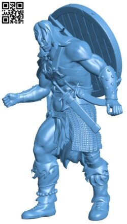 Barbarian Rez Red H000134 file stl free download 3D Model for CNC and 3d printer