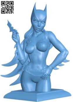 BatGirl H000168 file stl free download 3D Model for CNC and 3d printer