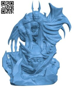 Batman – Superhero H000081 file stl free download 3D Model for CNC and 3d printer