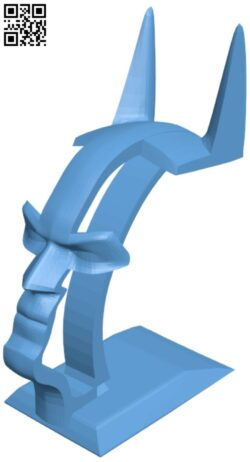 Batman Headset Stand H000169 file stl free download 3D Model for CNC and 3d printer