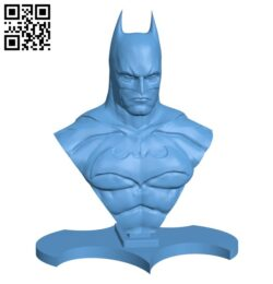 Batman bust – Superhero H000323 file stl free download 3D Model for CNC and 3d printer