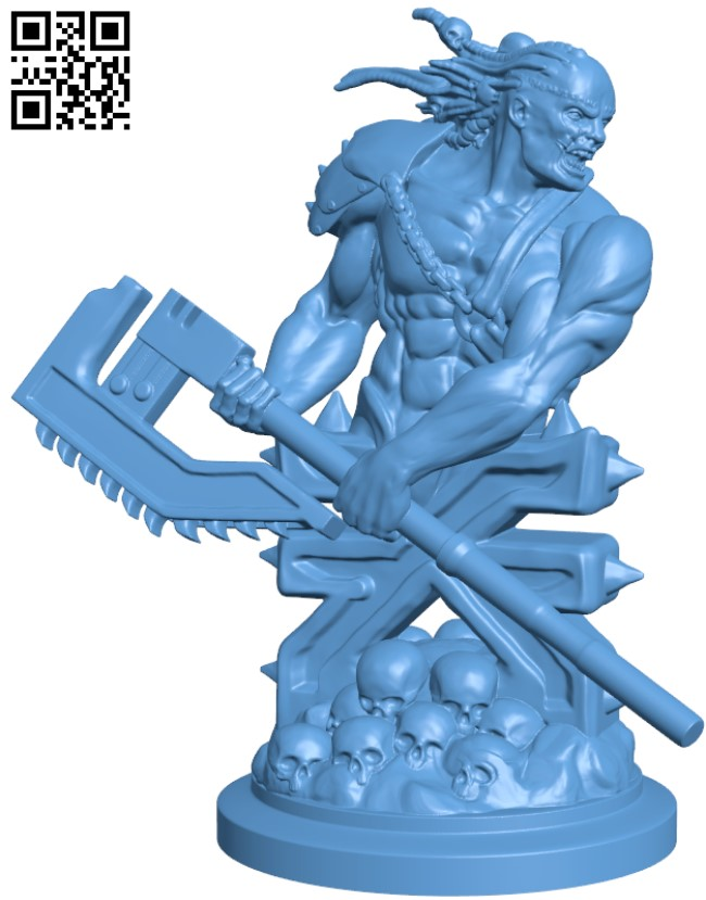 Blood Warrior H000020 file stl free download 3D Model for CNC and 3d printer