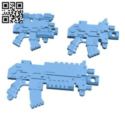Bolters – Gun H000468 file stl free download 3D Model for CNC and 3d printer