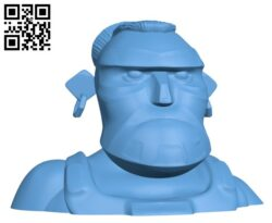 Boom Beach Warrior Bust Collectable H000053 file stl free download 3D Model for CNC and 3d printer