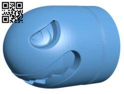 Bullet bill H000137 file stl free download 3D Model for CNC and 3d printer