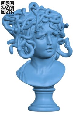 Bust of Medusa at The Musei Capitolini, Rome H000194 file stl free download 3D Model for CNC and 3d printer