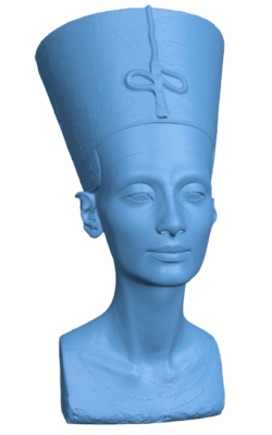 Bust of Nefertiti at the Neues Museum, Berlin H000109 file stl free download 3D Model for CNC and 3d printer