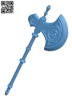 Camilla Fire Emblem Silver Axe Cosplay Weapon H000172 file stl free download 3D Model for CNC and 3d printer