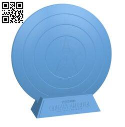 Captain America Shield -Superhero H000387 file stl free download 3D Model for CNC and 3d printer