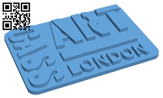 Cass Art Logo Plaque H000054 file stl free download 3D Model for CNC and 3d printer