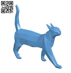 Cat lowpoly H000024 file stl free download 3D Model for CNC and 3d printer