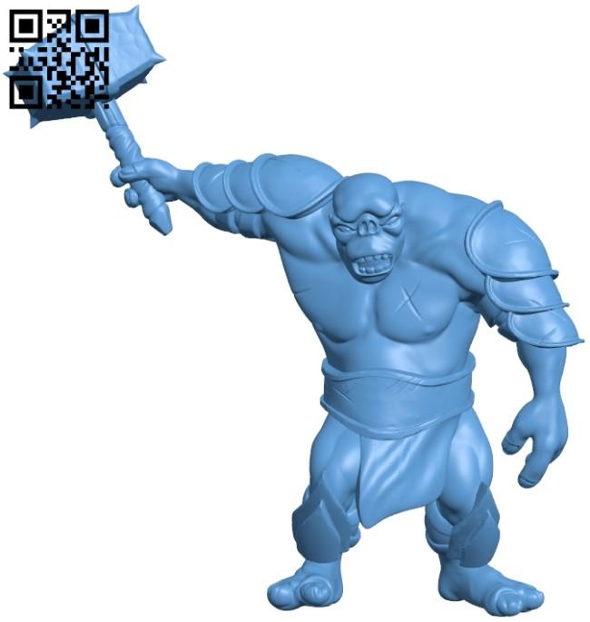 Cavern troll - man B009629 file stl free download 3D Model for CNC and 3d printer