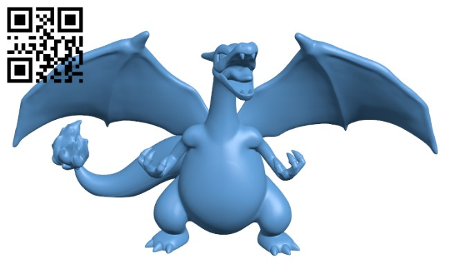 Charizard(Pokemon) H000331 file stl free download 3D Model for CNC and 3d printer