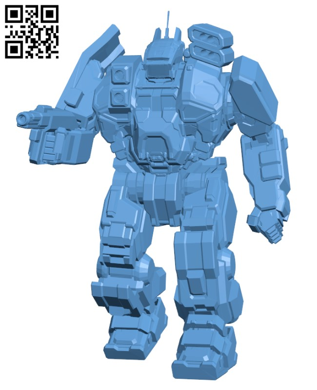 Conjurer (Hellhound) BN Edition for Battletech - Robot H000472 file stl free download 3D Model for CNC and 3d printer