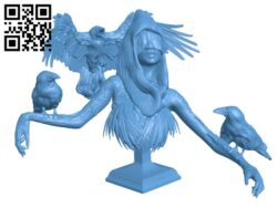 Crowmoder Bust H000195 file stl free download 3D Model for CNC and 3d printer