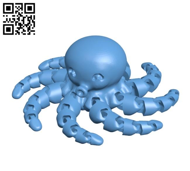 Cute Mini Octopus H000361 file stl free download 3D Model for CNC and 3d printer
