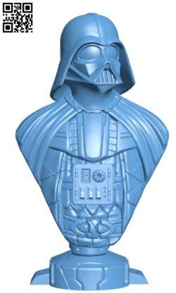 Darth Vader bust H000111 file stl free download 3D Model for CNC and 3d printer