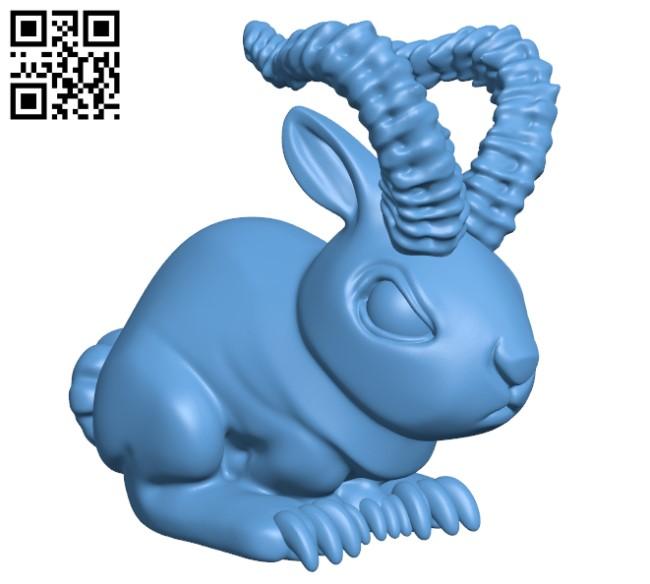 Demon bunny H000026 file stl free download 3D Model for CNC and 3d printer