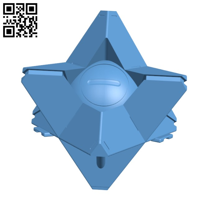 Destiny Ghost Pendant H000057 file stl free download 3D Model for CNC and 3d printer