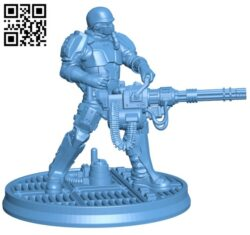 Dieselpunk Heavy Weapons Trooper H000304 file stl free download 3D Model for CNC and 3d printer
