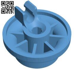 Dishwasher lower basket wheel H000059 file stl free download 3D Model for CNC and 3d printer