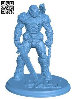 Doom Guy H000114 file stl free download 3D Model for CNC and 3d printer