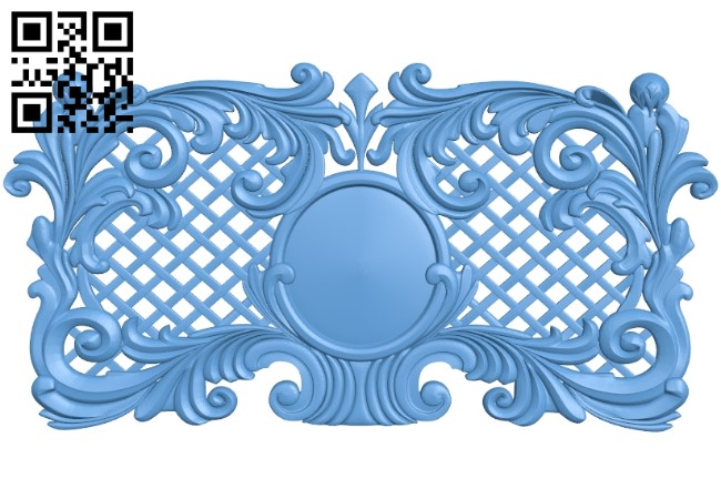 Door pattern A006610 download free stl files 3d model for CNC wood carving