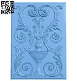 Door pattern A006611 download free stl files 3d model for CNC wood carving