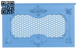 Door pattern A006612 download free stl files 3d model for CNC wood carving