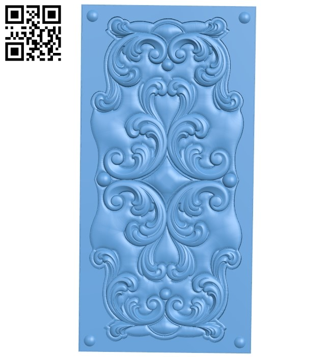 Door pattern A006613 download free stl files 3d model for CNC wood carving
