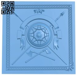 Door pattern A006614 download free stl files 3d model for CNC wood carving