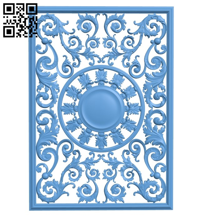 Door pattern A006615 download free stl files 3d model for CNC wood carving