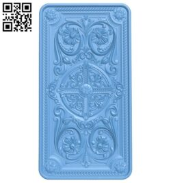 Door pattern A006617 download free stl files 3d model for CNC wood carving