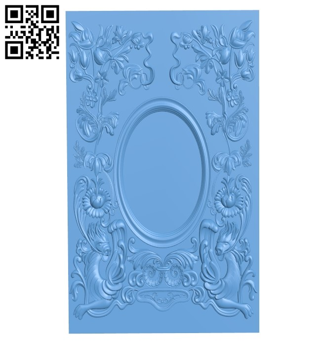 Door pattern A006619 download free stl files 3d model for CNC wood carving