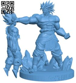 Dragon Ball Broly and Monkey King H000199 file stl free download 3D Model for CNC and 3d printer