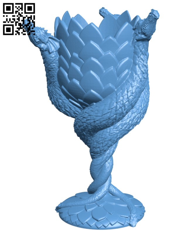 Dragon Wine Glass - House of Targaryen H000363 file stl free download 3D Model for CNC and 3d printer