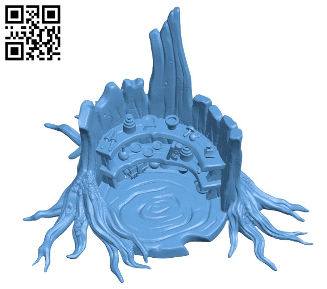 Druid Potions Tree H000230 file stl free download 3D Model for CNC and 3d printer