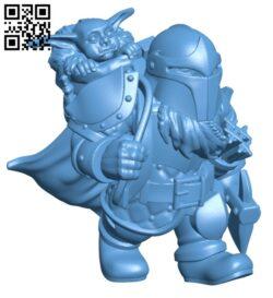 Dwarf Bounty Hunter H000476 file stl free download 3D Model for CNC and 3d printer
