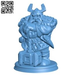 Dwarf H000432 file stl free download 3D Model for CNC and 3d printer