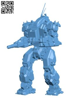 END-6Q Enfield BN Edition for Battletech – Robot H000435 file stl free download 3D Model for CNC and 3d printer