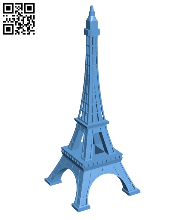 Eiffel Tower - Paris H000453 file stl free download 3D Model for CNC and 3d printer