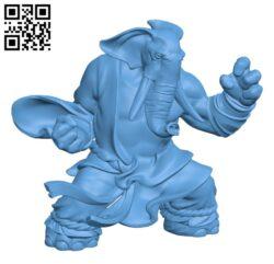 Elephant folk H000477 file stl free download 3D Model for CNC and 3d printer