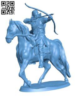 Elf archer- Action rider H000275 file stl free download 3D Model for CNC and 3d printer