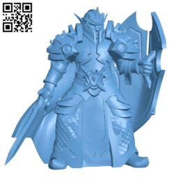 Elf paladin H000478 file stl free download 3D Model for CNC and 3d printer