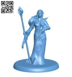 Elven Sorceress H000231 file stl free download 3D Model for CNC and 3d printer