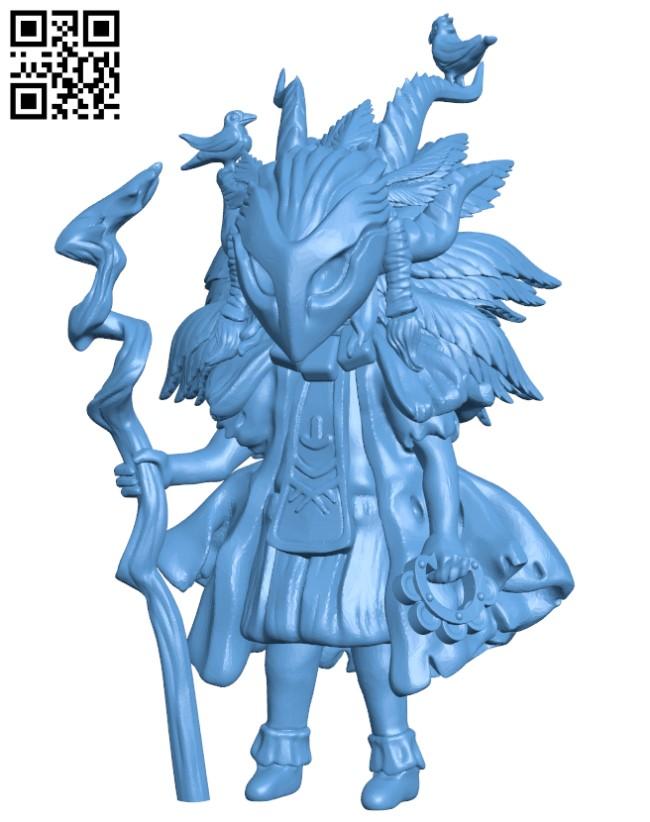 Eva Druid H000325 file stl free download 3D Model for CNC and 3d printer