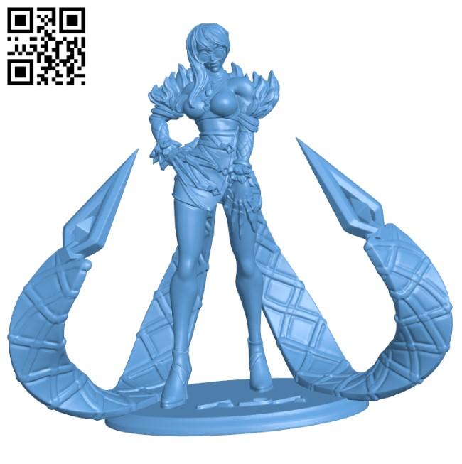 Evelynn KDA - League of Legends H000479 file stl free download 3D Model for CNC and 3d printer