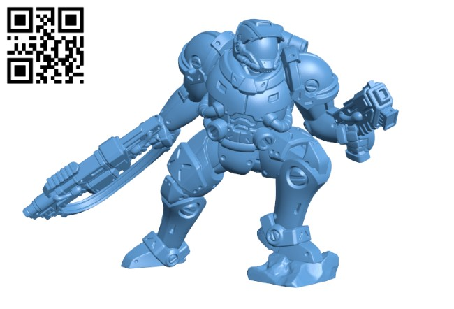 Exo Marine H000083 file stl free download 3D Model for CNC and 3d printer